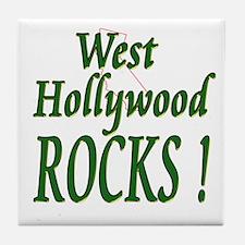 West Hollywood Rocks ! Tile Coaster