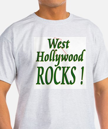 West Hollywood Rocks ! Ash Grey T-Shirt
