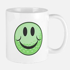 Green Golf Ball Smiley Mug