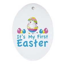 It's my first easter Ornament (Oval)