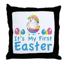 It's my first easter Throw Pillow