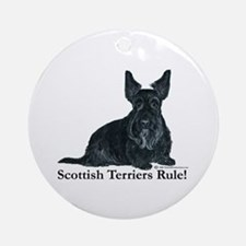 Scottish Terriers Rule! Ornament (Round)