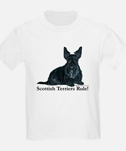 Scottish Terriers Rule! Kids T-Shirt