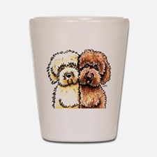 Cream Chocolate Labradoodle Shot Glass