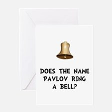 Pavlov Ring Bell Greeting Card