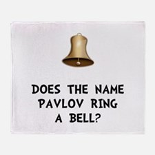 Pavlov Ring Bell Throw Blanket