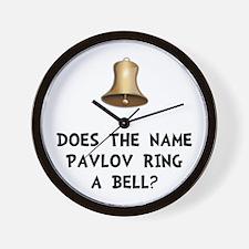 Pavlov Ring Bell Wall Clock