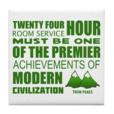 Twin Peaks Room Service Quote Tile Coaster
