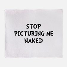 Picturing Naked Throw Blanket