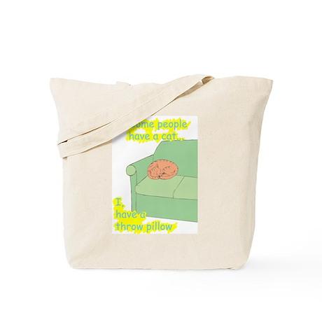 Cat= Pillow Tote Bag