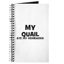 My Quail Ate My Homework Journal