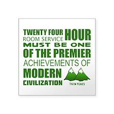 Twin Peaks Room Service Quote Sticker