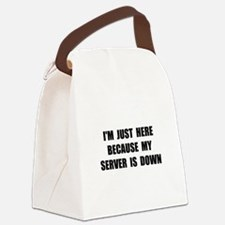 Server Down Canvas Lunch Bag
