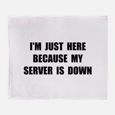 Server Down Throw Blanket