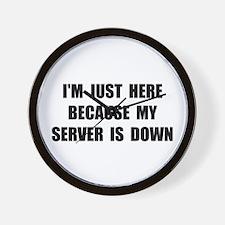 Server Down Wall Clock