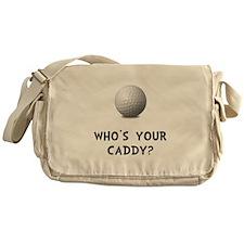 Whos Golf Caddy Messenger Bag