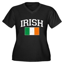 Vintage IRISH Flag (Distressed) Plus Size T-Shirt