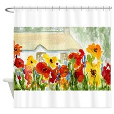 Flower House Shower Curtain