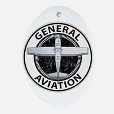 General Aviation Ornament (Oval)
