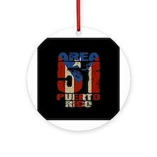 Area 51 Puerto Rico Ornament (Round)