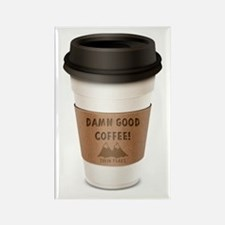 Twin Peaks Damn Good Coffee Logo Rectangle Magnet