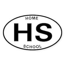 Homeschool 07 Oval Decal
