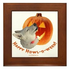Happy Howl-o-ween! Framed Tile