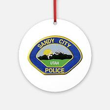 Sandy City Police Ornament (Round)