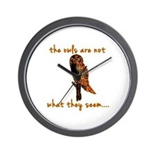 The Owls are Not What They Seem Wall Clock