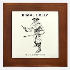 Brave Bully Illustrations Framed Tile