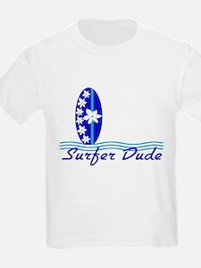 Surfer Dude Blue Surf Board Baby/ T-Shirt