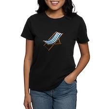 Beach chair blue white T-Shirt