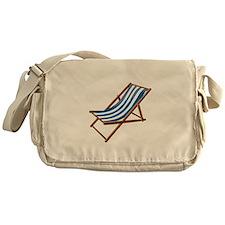 Beach chair blue white Messenger Bag