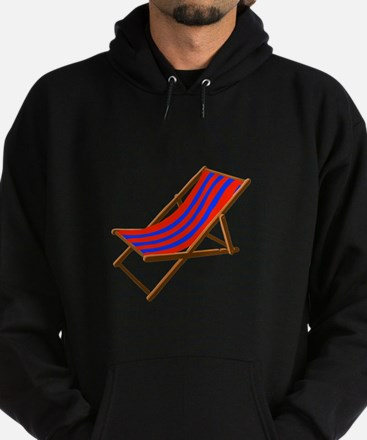 Blue and red wooden beach chair Hoodie