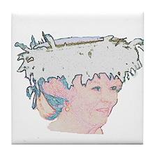 Beatrix light portrait Tile Coaster