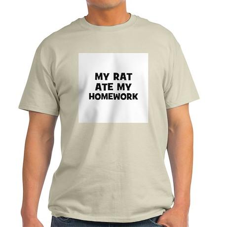 My Rat Ate My Homework Ash Grey T-Shirt