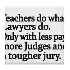 Teachers do what Lawyers do Tile Coaster