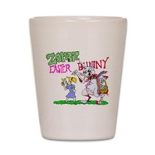 Zombie Easter Bunny Shot Glass