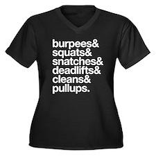 Crossfit Essentials White text Plus Size T-Shirt