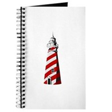Red and white spiral lighthouse Journal