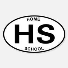 Homeschool of Hardknocks Oval Decal