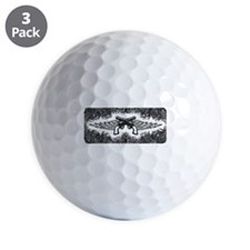 Pistols and Wings Golf Ball