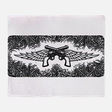 Pistols and Wings Throw Blanket