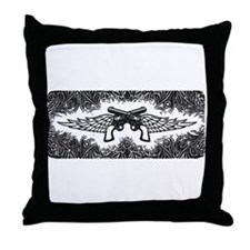 Pistols and Wings Throw Pillow