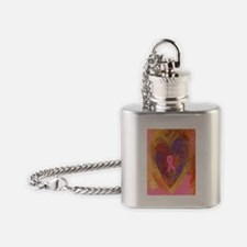 Pink Ribbon Flask Necklace