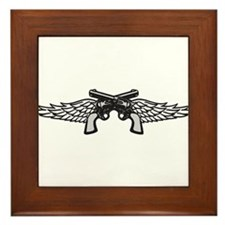 Pistols and Wings Framed Tile