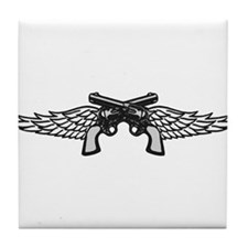 Pistols and Wings Tile Coaster