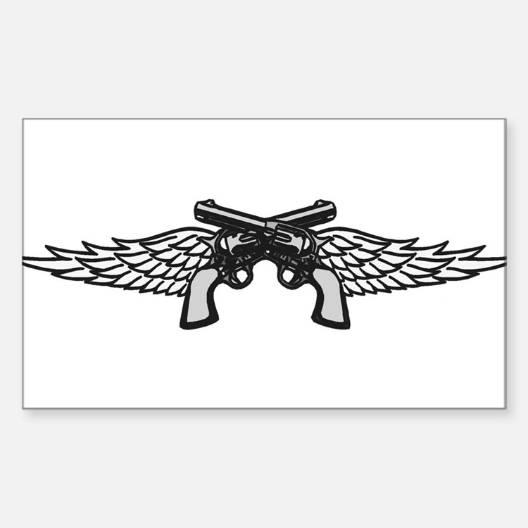 Pistols and Wings Decal