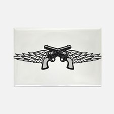 Pistols and Wings Rectangle Magnet