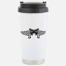 Pistols and Wings Travel Mug